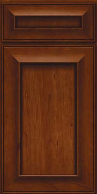 Square Recessed Panel - Solid (AB6C) Cherry in Autumn Blush - Base