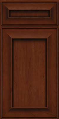 Square Recessed Panel - Solid (AB6C) Cherry in Autumn Blush w/Onyx Glaze - Base