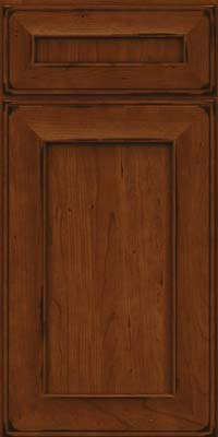 Square Recessed Panel - Solid (AB6C) Cherry in Burnished Autumn Blush - Base