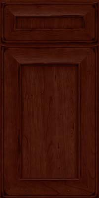 Square Recessed Panel - Solid (AB6C) Cherry in Burnished Cabernet - Base