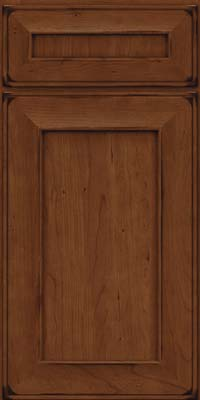 Square Recessed Panel - Solid (AB6C) Cherry in Burnished Chocolate - Base