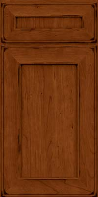 Square Recessed Panel - Solid (AB6C) Cherry in Burnished Cinnamon - Base