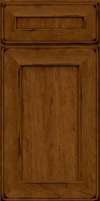 Square Recessed Panel - Solid (AB6C) Cherry in Burnished Ginger - Base