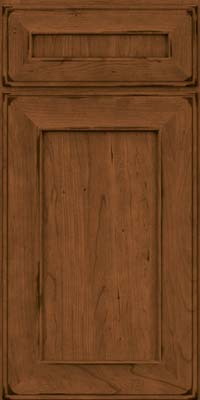 Square Recessed Panel - Solid (AB6C) Cherry in Burnished Rye - Base