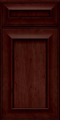Square Recessed Panel - Solid (AB6C) Cherry in Cabernet - Base