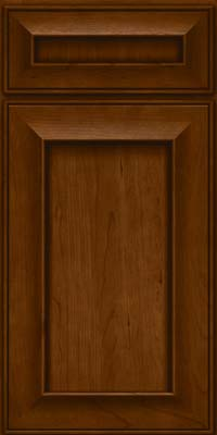 Square Recessed Panel - Solid (AB6C) Cherry in Chocolate - Base
