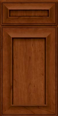 Square Recessed Panel - Solid (AB6C) Cherry in Cinnamon - Base