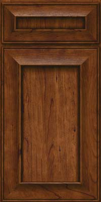 Square Recessed Panel - Solid (AB6C) Cherry in Cognac - Base
