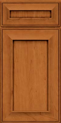 Square Recessed Panel - Solid (AB6C) Cherry in Honey Spice - Base