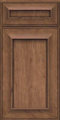 Square Recessed Panel - Solid (AB6C) Cherry in Husk - Base