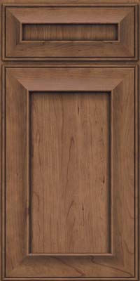 Square Recessed Panel - Solid (AB6C) Cherry in Husk Suede - Base