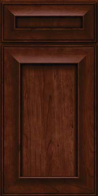 Square Recessed Panel - Solid (AB6C) Cherry in Kaffe - Base
