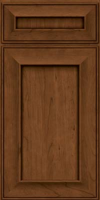 Square Recessed Panel - Solid (AB6C) Cherry in Rye w/Sable Glaze - Base