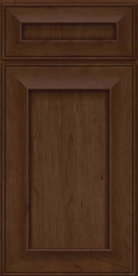 Square Recessed Panel - Solid (AB6C) Cherry in Saddle Suede - Base