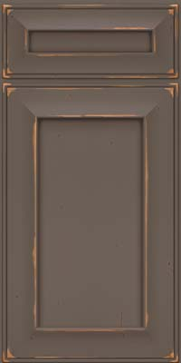 Square Recessed Panel - Solid (AB6C) Cherry in Vintage Greyloft w/ Sable Patina - Base