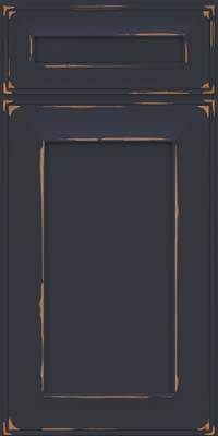 Square Recessed Panel - Solid (AB6C) Cherry in Vintage Midnight - Base