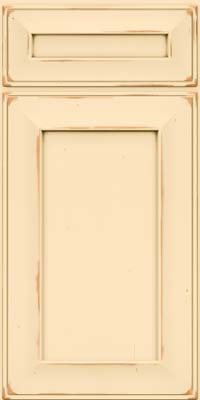 Square Recessed Panel - Solid (AB6C) Cherry in Vintage Biscotti - Base