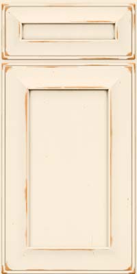 Square Recessed Panel - Solid (AB6C) Cherry in Vintage Canvas - Base