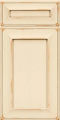 Square Recessed Panel - Solid (AB6C) Cherry in Vintage Canvas w/Cocoa Patina - Base