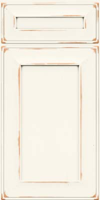 Square Recessed Panel - Solid (AB6C) Cherry in Vintage Dove White - Base