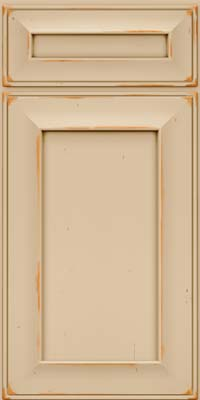 Square Recessed Panel - Solid (AB6C) Cherry in Vintage Mushroom - Base