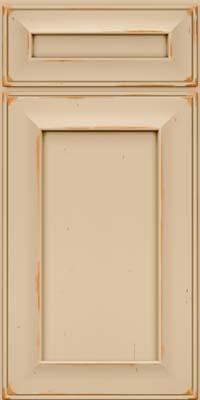 Square Recessed Panel - Solid (AB6C) Cherry in Vintage Mushroom - Base