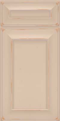 Square Recessed Panel - Solid (AB6C) Cherry in Vintage Mushroom w/ Cinder Patina - Base