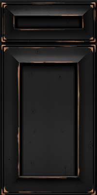 Square Recessed Panel - Solid (AB6C) Cherry in Vintage Onyx - Base