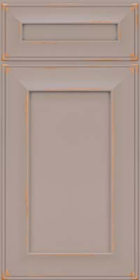 Square Recessed Panel - Solid (AB6C) Cherry in Vintage Pebble Grey - Base