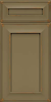 Square Recessed Panel - Solid (AB6C) Cherry in Vintage Sage - Base