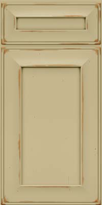 Square Recessed Panel - Solid (AB6C) Cherry in Vintage Willow - Base