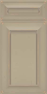 Square Recessed Panel - Solid (AB6C) Cherry in Vintage Willow w/ Cinder Patina - Base
