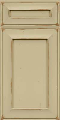 Square Recessed Panel - Solid (AB6C) Cherry in Vintage Willow w/Cocoa Patina - Base