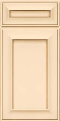 Square Recessed Panel - Solid (AB6M) Maple in Biscotti w/Cocoa Glaze - Base