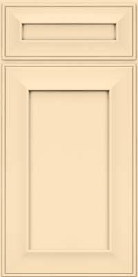 Square Recessed Panel - Solid (AB6M) Maple in Biscotti w/Coconut Glaze - Base
