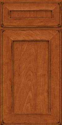 Square Recessed Panel - Solid (AB6M) Maple in Burnished Cinnamon - Base