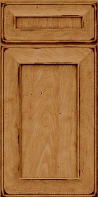 Square Recessed Panel - Solid (AB6M) Maple in Burnished Ginger - Base