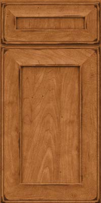 Square Recessed Panel - Solid (AB6M) Maple in Burnished Praline - Base