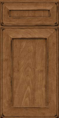 Square Recessed Panel - Solid (AB6M) Maple in Burnished Rye - Base