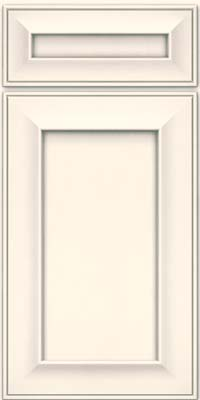 Square Recessed Panel - Solid (AB6M) Maple in Canvas w/ Cinder Glaze - Base