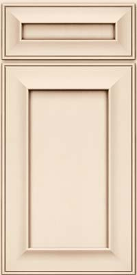 Square Recessed Panel - Solid (AB6M) Maple in Canvas w/Cocoa Glaze - Base