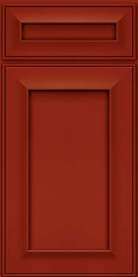 Square Recessed Panel - Solid (AB6M) Maple in Cardinal - Base