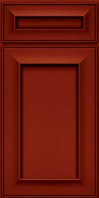 Square Recessed Panel - Solid (AB6M) Maple in Cardinal w/Onyx Glaze - Base