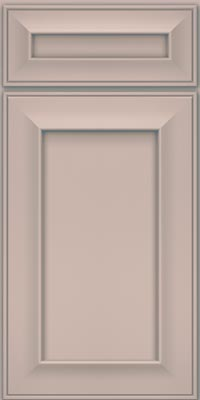 Square Recessed Panel - Solid (AB6M1) Maple in Chai w/Cinder Glaze - Base