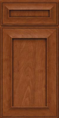 Square Recessed Panel - Solid (AB6M) Maple in Chestnut - Base