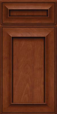Square Recessed Panel - Solid (AB6M) Maple in Chestnut w/Onyx Glaze - Base
