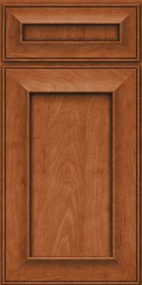 Square Recessed Panel - Solid (AB6M) Maple in Cinnamon - Base