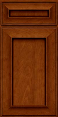 Square Recessed Panel - Solid (AB6M) Maple in Cinnamon w/Onyx Glaze - Base