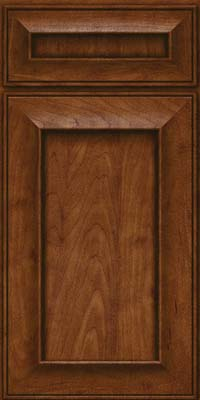 Square Recessed Panel - Solid (AB6M) Maple in Cognac - Base