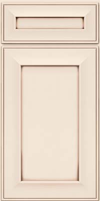 Square Recessed Panel - Solid (AB6M) Maple in Dove White w/Cocoa Glaze - Base